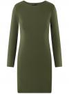 Платье базовое облегающего силуэта oodji #SECTION_NAME# (зеленый), 14011038B/38261/6800N