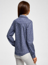 Рубашка джинсовая принтованная oodji #SECTION_NAME# (синий), 16A09003-3/47735/7512G - вид 3