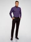 Рубашка базовая приталенная oodji #SECTION_NAME# (фиолетовый), 3B110019M/44425N/8880G - вид 6