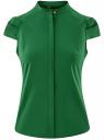 Рубашка с коротким рукавом из хлопка oodji #SECTION_NAME# (зеленый), 11403196-1/18193/6E00N
