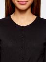 Жакет вязаный на пуговицах oodji для женщины (черный), 73212401-1B/45904/2900N
