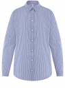 Рубашка хлопковая свободного силуэта oodji для женщины (синий), 13L11024/49806/7510S