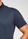 Рубашка базовая с коротким рукавом oodji #SECTION_NAME# (синий), 3B240000M/34146N/7900N - вид 5