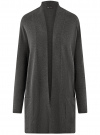 Кардиган без застежки с накладными карманами oodji #SECTION_NAME# (серый), 63212600/48514/2500M