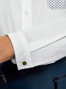 Рубашка базовая с нагрудным карманом oodji для женщины (белый), 11403205-10/26357/1079B