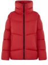 Куртка стеганая с воротником-стойкой oodji для женщины (красный), 10203098-2/45913/4500N