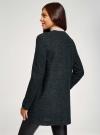Кардиган из фактурной ткани с накладными карманами oodji #SECTION_NAME# (черный), 19201003/49599/296EM - вид 3