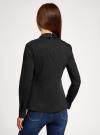 Блузка с баской и декором на воротнике  oodji #SECTION_NAME# (черный), 13K00001-2B/42083/2900N - вид 3
