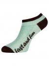 Комплект из трех пар укороченных носков oodji для женщины (разноцветный), 57102605T3/48022/20 - вид 4