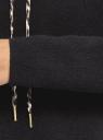 Худи свободного силуэта с капюшоном oodji #SECTION_NAME# (черный), 63812677/49878/2900N - вид 5