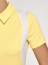 Платье приталенное с коротким рукавом oodji для женщины (желтый), 14000180/49249/5010B