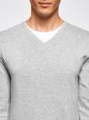 Пуловер базовый комбинированный oodji #SECTION_NAME# (серый), 4B212003M-1/21702N/2300M - вид 4