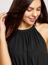 Платье макси с завязками на талии oodji для женщины (черный), 11911009/42629/2900N - вид 4