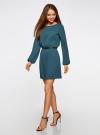 Платье из шифона с ремнем oodji для женщины (зеленый), 11900150-5B/32823/6C00N - вид 6
