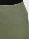 Юбка-карандаш трикотажная oodji #SECTION_NAME# (зеленый), 14100068-1/43153/6800N - вид 5