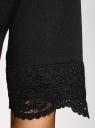 Платье прямого силуэта с кружевом oodji #SECTION_NAME# (черный), 14008033-1/48881/2991P - вид 5