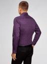 Рубашка приталенная с этническим принтом oodji #SECTION_NAME# (фиолетовый), 3L110343M/19370N/8883E - вид 3