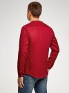 Рубашка льняная без воротника oodji #SECTION_NAME# (красный), 3B320002M/21155N/4500N - вид 3