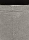 Брюки укороченные на эластичном поясе oodji #SECTION_NAME# (серый), 11706203-6/19801/2312M - вид 5