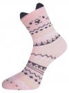 Комплект из трех пар носков oodji #SECTION_NAME# (разноцветный), 57102802-1T3/49668/2