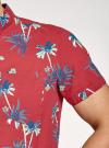 Рубашка хлопковая с короткими рукавами и нагрудным карманом oodji #SECTION_NAME# (красный), 3L410154M/49929N/4579G - вид 5