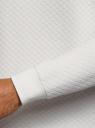 Свитшот из фактурной ткани с круглым вырезом oodji для мужчины (белый), 5L113146M/49438N/1200N