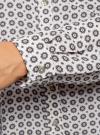 Блузка принтованная из шифона oodji #SECTION_NAME# (белый), 11400394-5/36215/1223G - вид 5