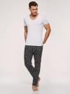Брюки пижамные принтованные oodji для мужчины (черный), 7L400101I-1/47885N/2910G - вид 6