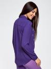 Блузка из струящейся ткани с украшением из страз oodji #SECTION_NAME# (фиолетовый), 11411128/36215/7500N - вид 3