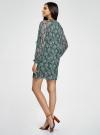 Платье шифоновое с манжетами на резинке oodji #SECTION_NAME# (зеленый), 11914001/15036/6912E - вид 3
