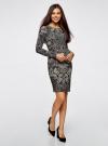 Платье трикотажное с этническим принтом oodji для женщины (черный), 24001070-4/15640/2933E - вид 6