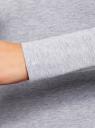 Футболка с длинным рукавом (комплект из 5 штук) oodji для женщины (серый), 24201007T5/46147/2000M