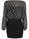Платье oodji для женщины (черный), 21913010/38375/2912G