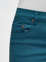 Шорты джинсовые с бахромой oodji для женщины (зеленый), 12807078-1/46673/6C00N