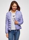 Куртка-бомбер на молнии oodji для женщины (синий), 10203061-2B/42257/7523O - вид 2