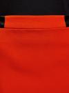 Юбка короткая с отделкой из искусственной кожи oodji #SECTION_NAME# (красный), 11601179-10/46415/4500N - вид 4