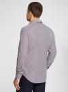 Рубашка приталенного силуэта в мелкую клетку oodji #SECTION_NAME# (фиолетовый), 3B110006M/25416N/1049C - вид 3