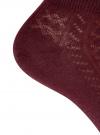 Комплект ажурных носков (3 пары) oodji для женщины (красный), 57102702T3/48022/7 - вид 4