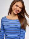 Платье трикотажное базовое oodji #SECTION_NAME# (синий), 14001071-2B/46148/7079S - вид 4