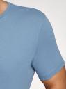 Футболка базовая oodji для мужчины (синий), 5B621002M/44135N/7401N