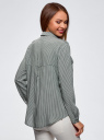 Блузка базовая из вискозы с нагрудными карманами oodji #SECTION_NAME# (зеленый), 11411127B/42540/6930G - вид 3