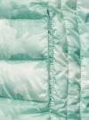 Куртка стеганая с круглым вырезом oodji для женщины (зеленый), 10204040-1B/42257/6560O - вид 5