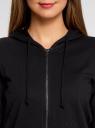 Толстовка с капюшоном и карманами oodji для женщины (черный), 16901079-2B/46934/2900N