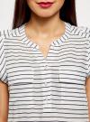 Блузка вискозная с нагрудными карманами oodji #SECTION_NAME# (белый), 21412132-5B/24681/1279S - вид 4