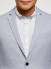 Пиджак приталенный на пуговицах oodji #SECTION_NAME# (синий), 2L420261M/49145N/7010O - вид 4