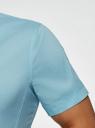 Рубашка базовая с коротким рукавом oodji #SECTION_NAME# (бирюзовый), 3B240000M/34146N/7300N - вид 5