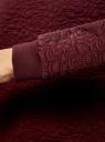 Свитшот базовый из фактурной ткани oodji #SECTION_NAME# (красный), 24801010-4/42316/4900N - вид 5
