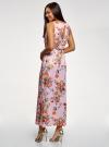 Платье макси с завязками на талии oodji #SECTION_NAME# (розовый), 24005137-1/46943/4019F - вид 3