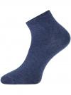 Носки укороченные базовые oodji #SECTION_NAME# (синий), 57102418B/47469/7900M - вид 2