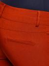Брюки стретч узкие oodji для женщины (красный), 11700212B/14007/4500N - вид 4